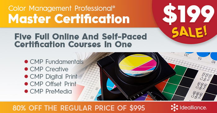 Color Management Professional Master Certification Course On Sale from Idealliance