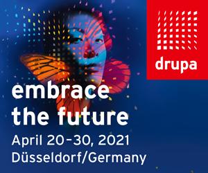 Drupa—Embrace the Future, April 20-30, 2021. Dusseldorf/Germany
