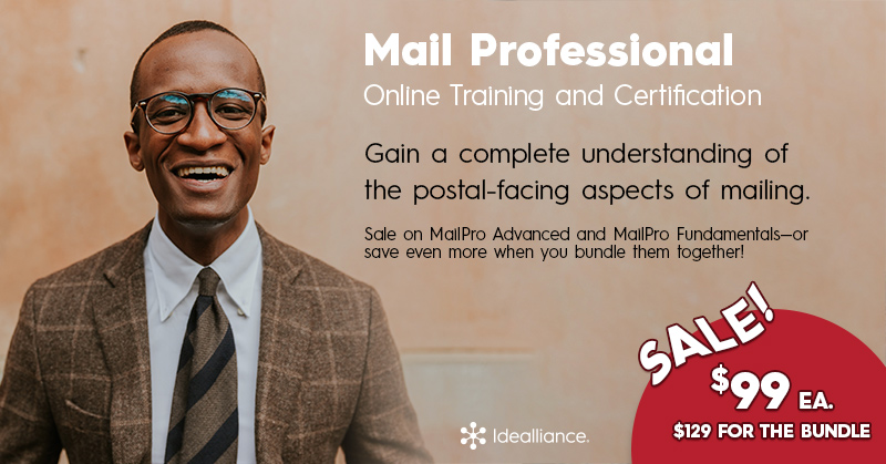 MailPro® Online Training and Certification Sale from Idealliance