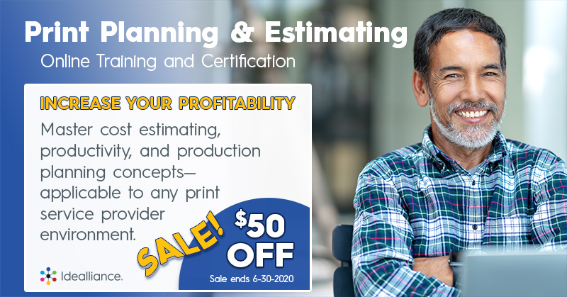 Print Planning and Estimating Courses on Sale at Idealliance