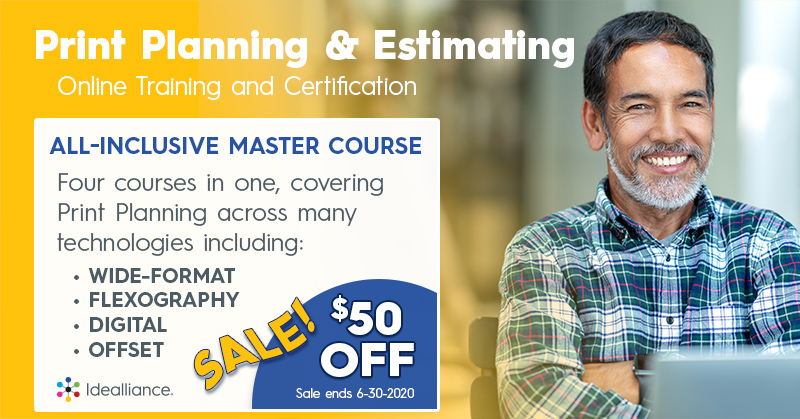 Print Planning and Estimating Master Course on Sale at Idealliance