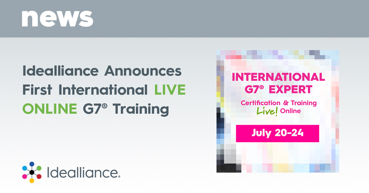 Idealliance Announces First International LIVE ONLINE G7® Training