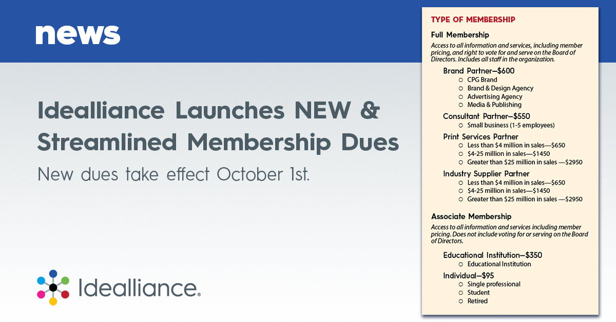 Idealliance Launches NEW & Streamlined Membership Dues New dues take effect October 1st.