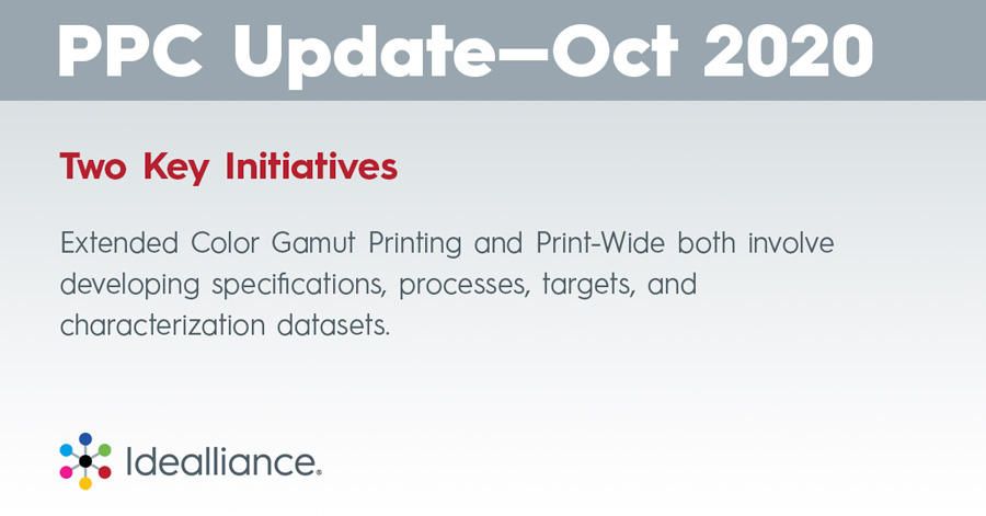 Two Key Initiatives: Extended Color Gamut Printing and Print-Wide both involve developing specifications, processes, targets, and characterization datasets.