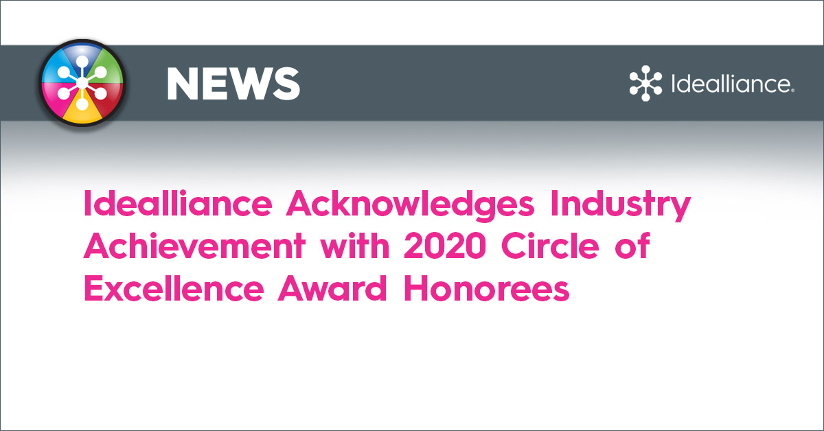 Idealliance Acknowledges Industry Achievement with 2020 Circle of Excellence Award Honorees