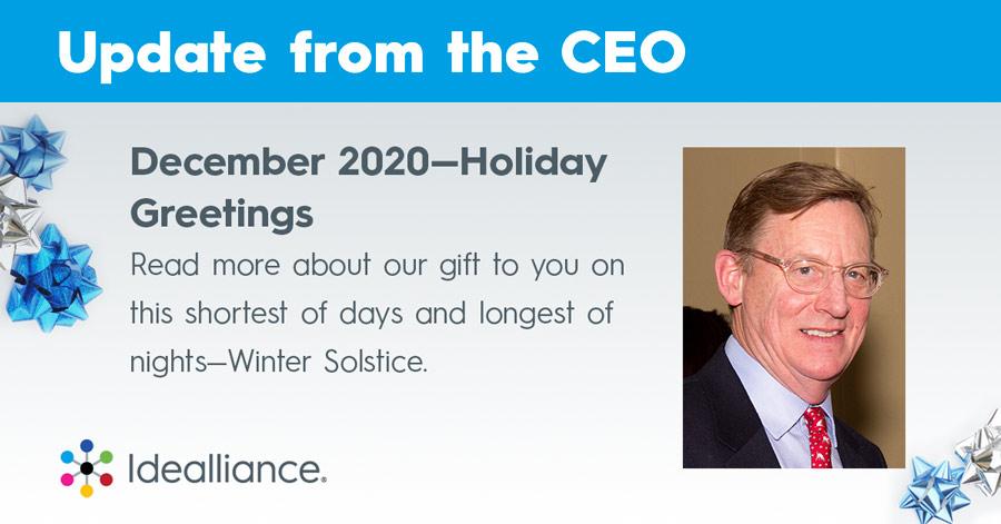 Idealliance CEO Update for December 2020